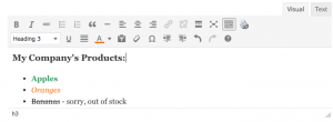 Featured Listing Rich Text Editor